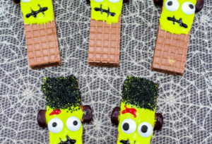 Easy Frankenstein Wafer Cookies!