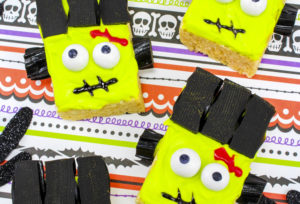 Easy Frankenstein Rice Krispies Treats!