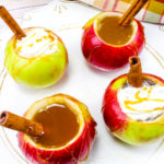 Yummy Caramel Cider Filled Apples!