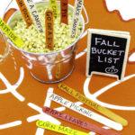 Easy DIY Fall Bucket List!