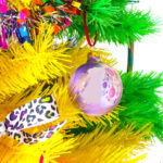 DIY Iridescent Rainbow Marble Ornaments!