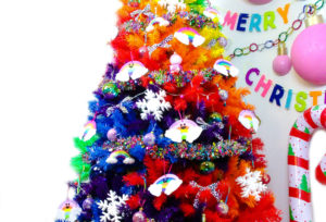 Our Rainbow Lisa Frank Inspired Christmas Tree!