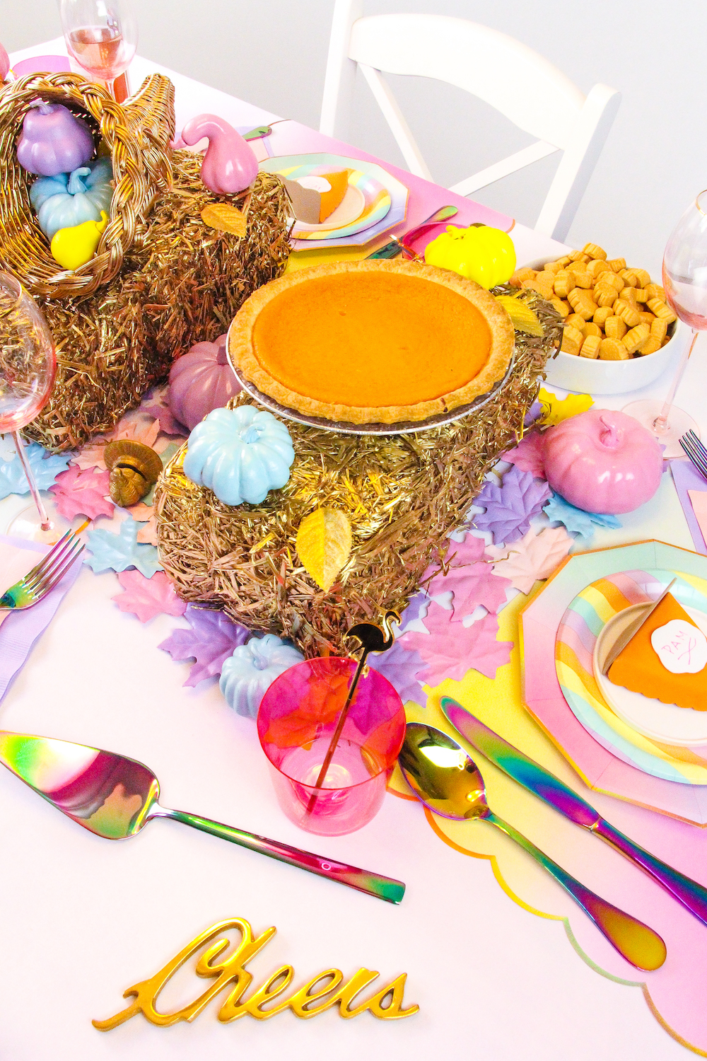 Our Gold Amp Pastel Rainbow Friendsgiving ⋆ Brite And Bubbly