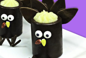 DIY Chocolate Turkey Pudding Cups!