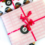 DIY 8-Ball Scratch Off Holiday Gift Tags!