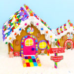 DIY Rainbow Gingerbread Shoppe & Matching Dog House!