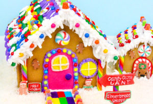 DIY Rainbow Gingerbread Shoppe & Matching Dog House!