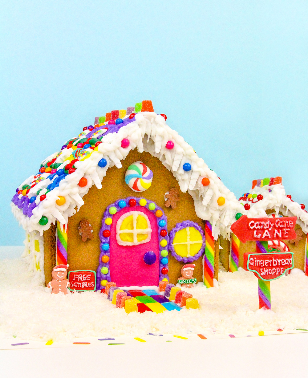 Diy rainbow gingerbread shoppe matching dog house brite and bubbly hey all solutioingenieria Image collections
