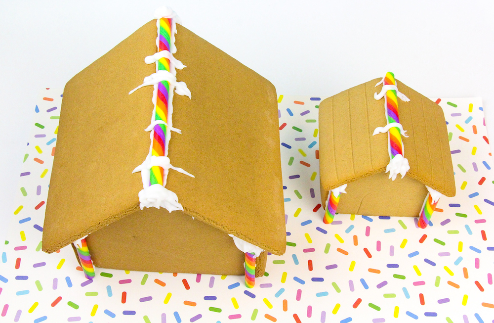 Diy rainbow gingerbread shoppe matching dog house brite and bubbly once solutioingenieria Image collections