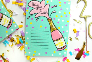 Free Printable New Years Resolution Cards!
