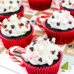 Cute & Easy Peppermint Hot Cocoa Cupcakes!