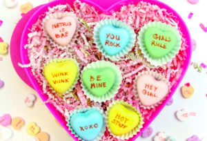 Conversation Heart Petit Fours!