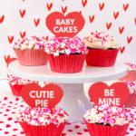 DIY Surprise Cupcake Valentines!