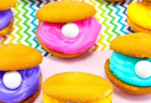 Easy Colorful Clam Shell Cookies!
