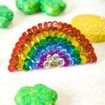Easy DIY Rainbow Sequin Hair Clip!