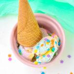 Easy Unicorn Vanilla Ice Cream!