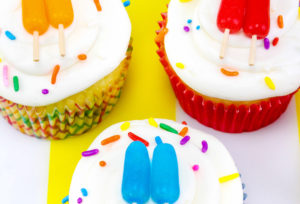 Mini Edible Popsicle Cupcake Toppers!