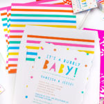 Our Rainbow Baby Shower Invites & Favor Tags!