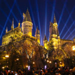 The Nighttime Lights at Hogwarts Castle!