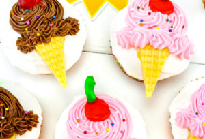 Ice Cream Month Celebration Cupcakes!