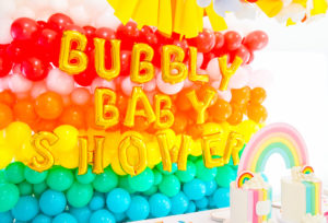 Our Rainbow Bubbly Baby Shower!