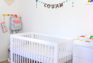 Our Rainbow Bubbly Baby Nursery Reveal!