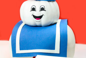 DIY Stay Puft Marshmallow Man Pumpkin!