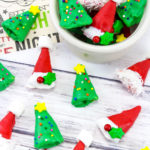 Easy Mini Christmas Tree & Santa Hat Treats!