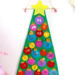 Easy No Sew Felt Christmas Tree Advent Calendar!