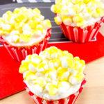 Oscar Party Popcorn Cupcakes!