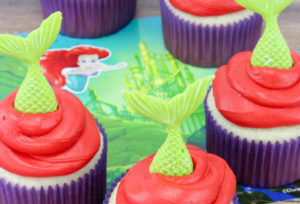 The Little Mermaid 30th anniversary Cupcakes!