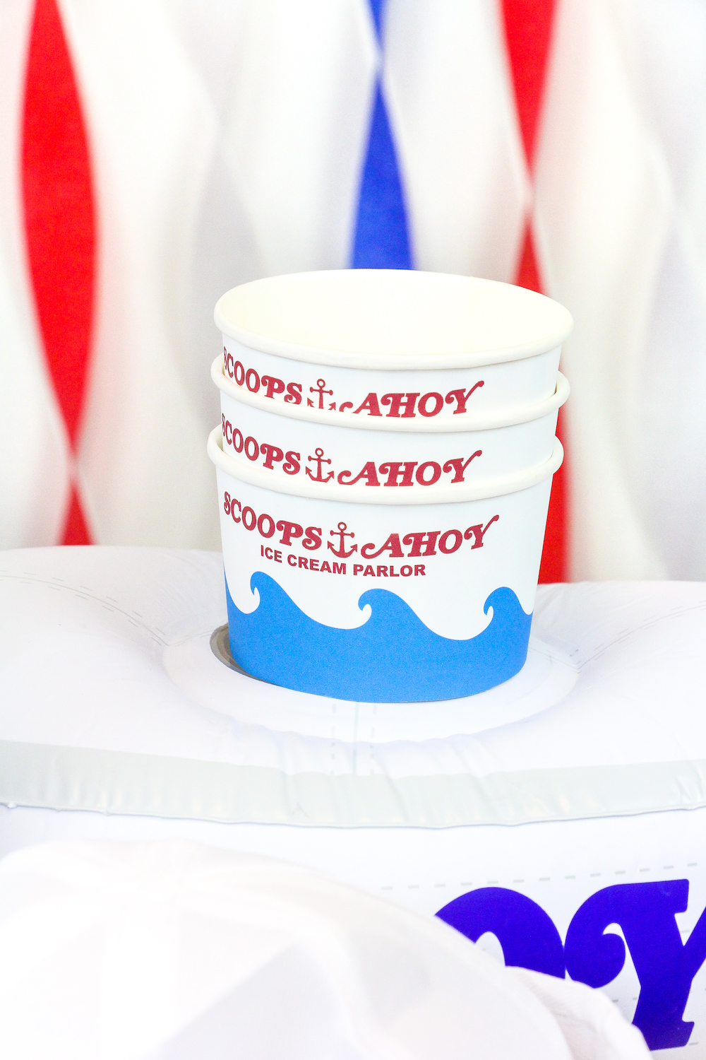 Diy Stranger Things Scoops Ahoy Ice Cream Party Brite And Bubbly