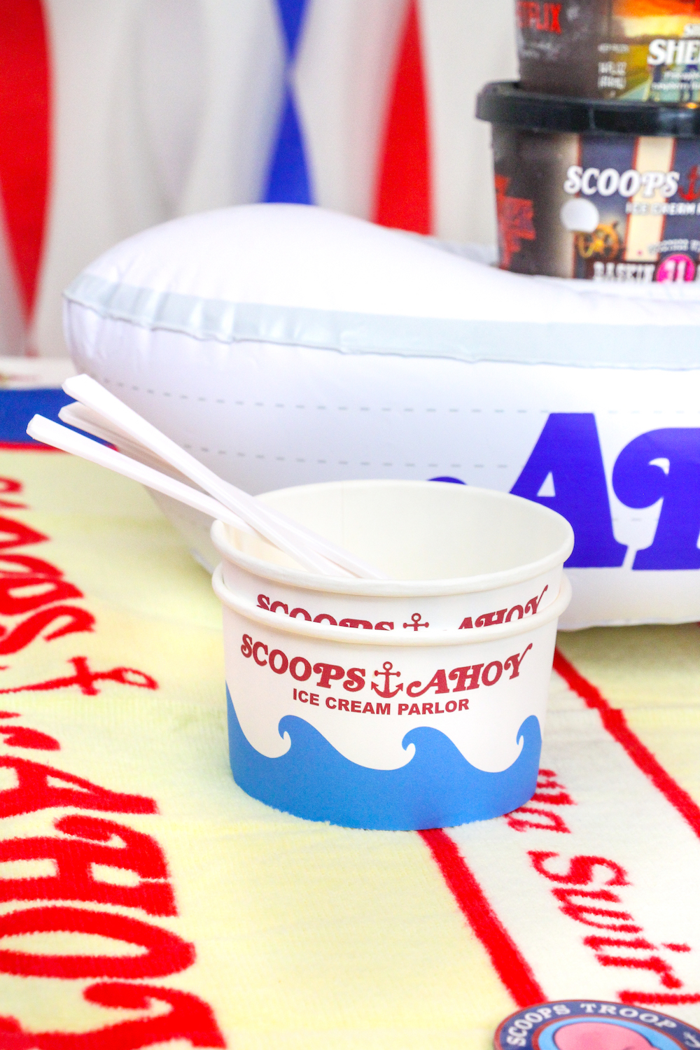 diy stranger things scoops ahoy ice cream party   u22c6 brite