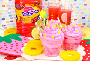 Easy Tampico Tropical Punch Cupcakes!