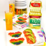 Easy Rainbow Heart Pizza's With Avocado Tomato Salad!