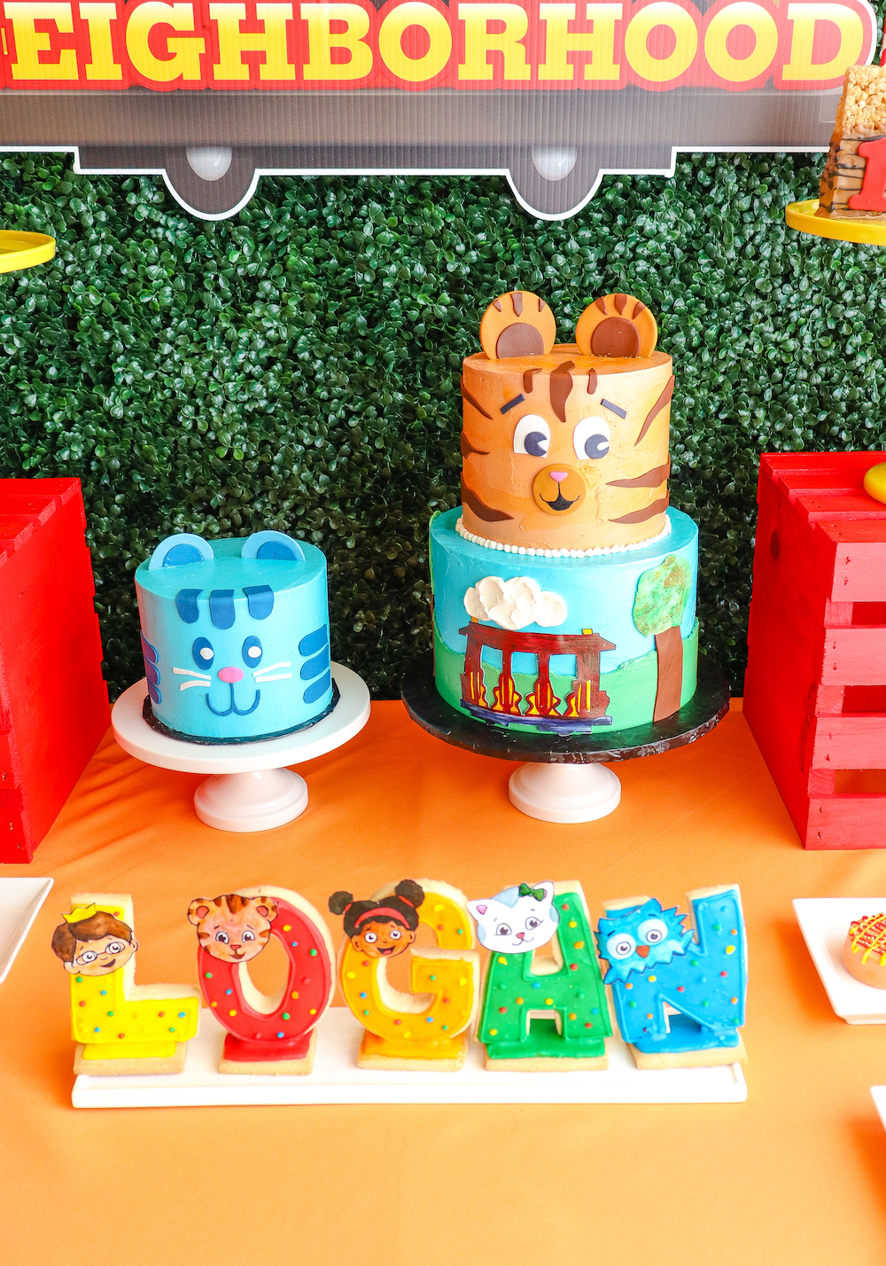 Surprising Our Daniel Tiger 1St Birthday Party Brite And Bubbly Funny Birthday Cards Online Elaedamsfinfo