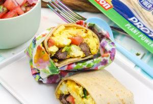 Easy Steak & Eggs Breakfast Burrito Recipe!