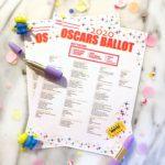 Free Printable 2020 Oscars Ballot!