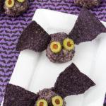 Halloween Cheese Ball Bat Treats!