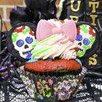 Halloween Sugar Skull Minnie Cupcakes!