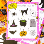 At Home Halloween Treat Hunt + Free Printable!