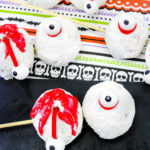 Spooky Zombie Eyeball Donut Holes For Halloween!