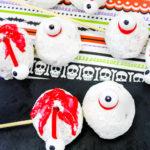 Spooky Zombie Eyeball Donut Holes For Halloween!