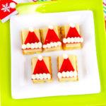 Cheesy Santa Hat Appetizer!