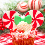 Peppermint Minnie Mouse Holiday Cupcakes!