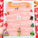 Free Printable Streaming Holiday Movie Playlist!