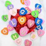 Toddler Learning : DIY Colorful Hearts Matching & Letters Game!
