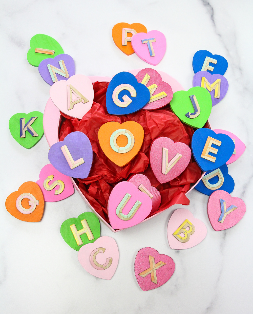 Toddler Colorful Hearts Matching Game