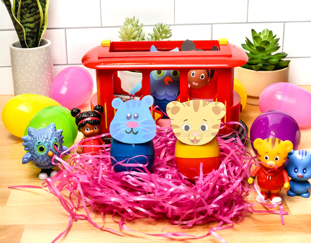 Daniel Tiger Easter Eggs with Trolley