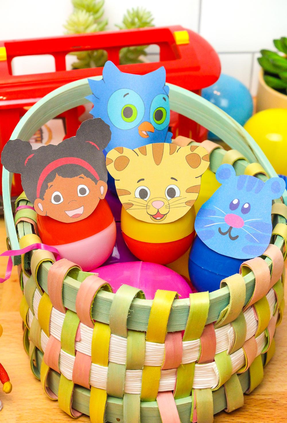 Daniel Tiger Easter Eggs In Basket Close Up